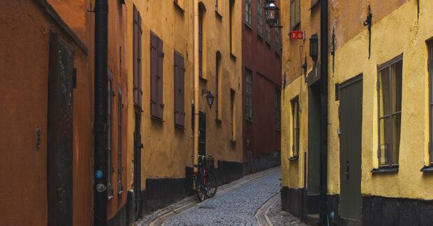 Gamla Stan, Stockholm. Fridays for future, Greta Thunberg. Mynttorget. Researchers Desk.